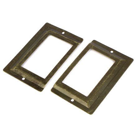 Unique Bargains Post Office Library File Drawer Metal Tag Label Holder Bronze Tone 2Pcs