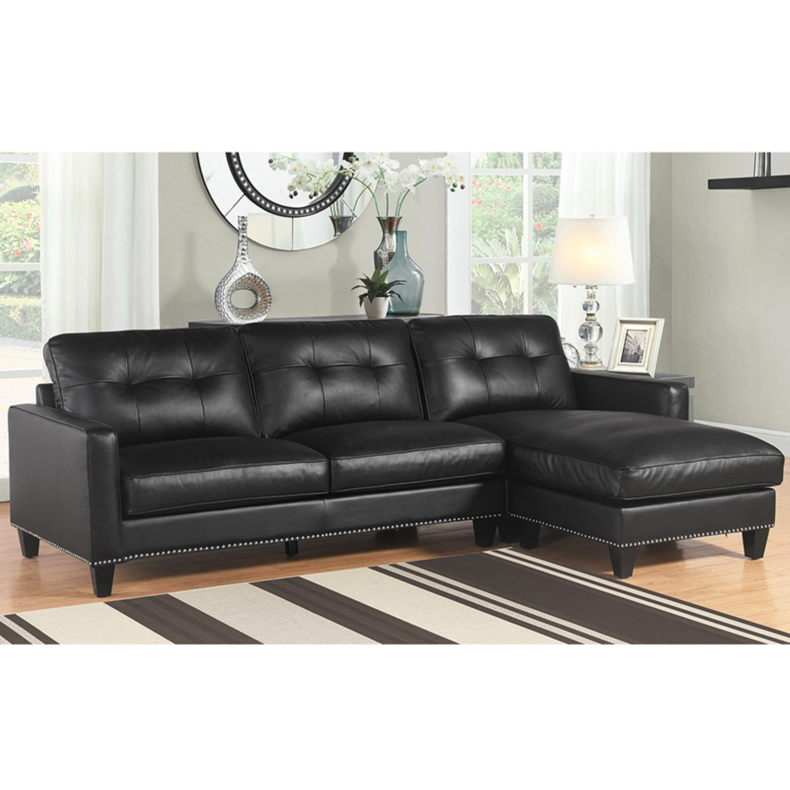Abbyson Covington Reversible Sectional
