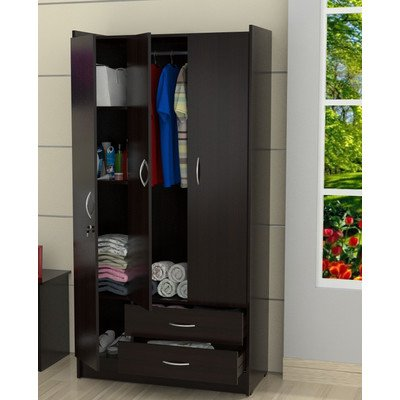 Inval AM-B223 Armoire, Espresso-Wengue by