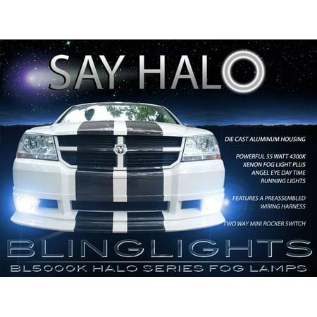 2008 2009 2010 dodge avenger fog lamp driving light kit halo angel eyes -  walmart com