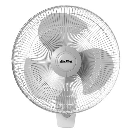 Air King 9016 16 Inch Commercial Grade Oscillating 3 Blade Wall Mount Fan (Multi Position Air)