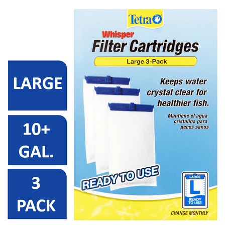 Tetra Whisper Replacement Carbon Aquarium Filter Cartridges, Lg 3-ct