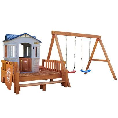 Little Tikes Real Wood Adventures Chipmunk Cottage Backyard Playset