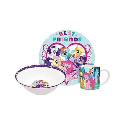 Hasbro My Little Pony Rainbow Dash 3Pc Ceramic Dinnerware Set - Plate, Bowl, Mug