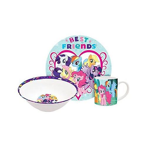 Hasbro My Little Pony Rainbow Dash 3Pc Ceramic Dinnerware Set - Plate, Bowl, Mug