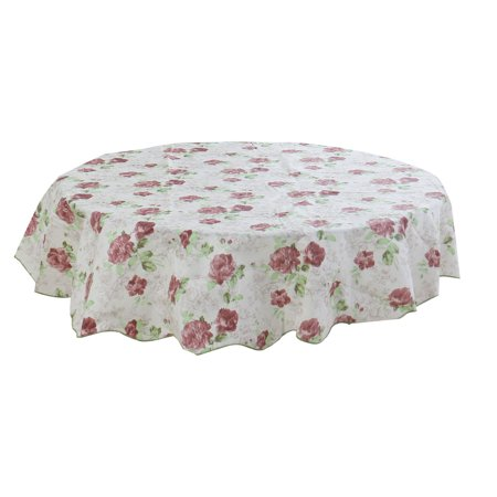 Patterned Tablecloth (Unique Bargains Home Picnic Round Peony Pattern Oil-proof Tablecloth Table Cloth Cover 60)