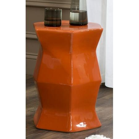 Orange Garden Stool Ceramic Stools Porcelain Red