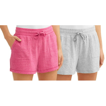 Athletic Works Womens Core Active Vintage Gym Shorts  2 Pack Value Bundle