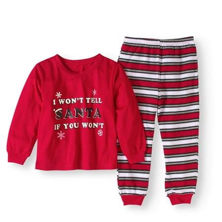 Family Pajamas Baby Toddler Unisex Naughty or Nice 2 pc Pajama - Holiday Toddler Pajamas