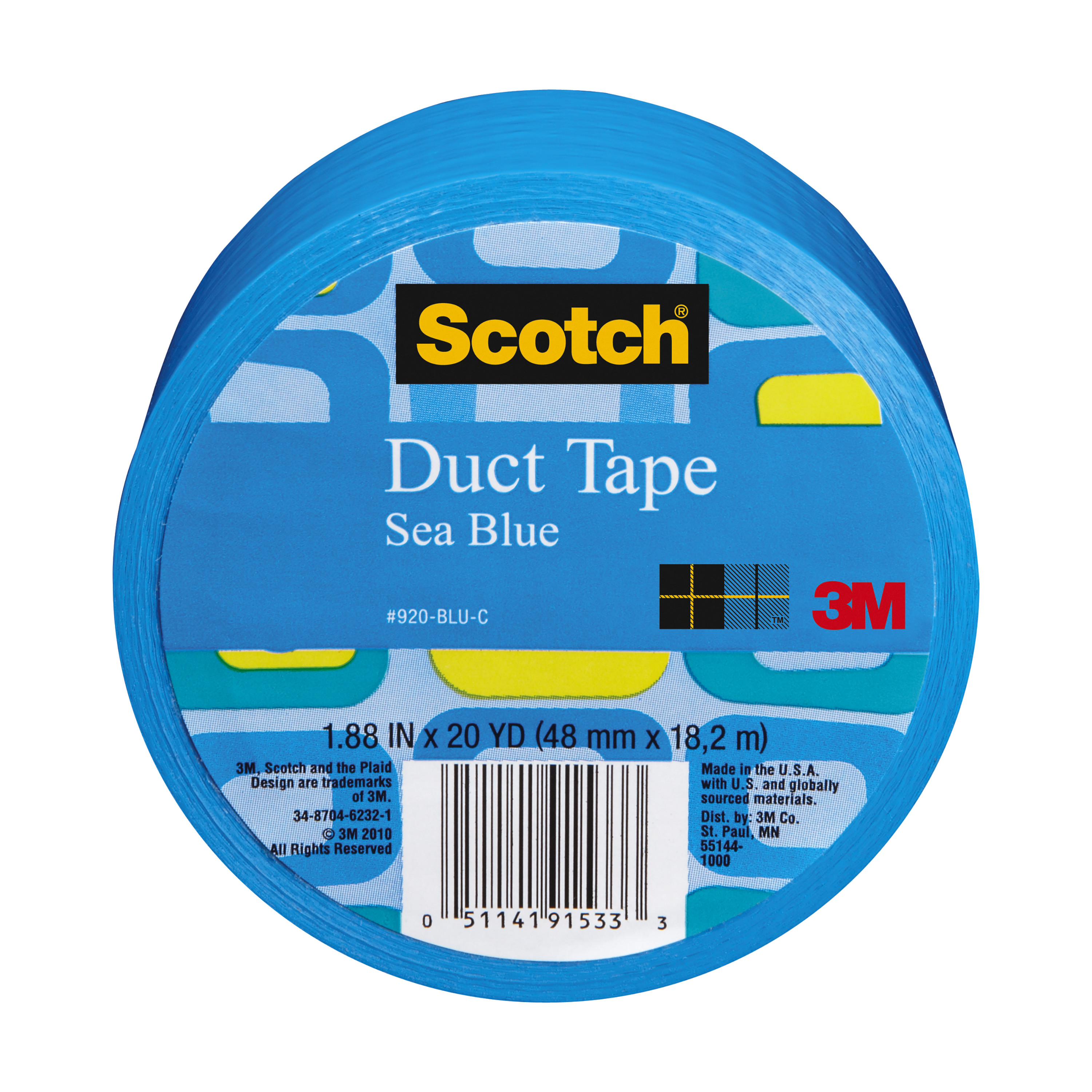 """3M Scotch Duct Tape for Artists, Blue, 1.88"""" x 20 yds."""