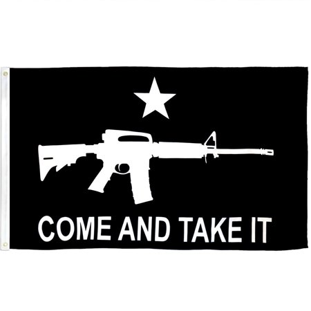 3x5 Black Come And Take It Rifle Flag Outdoor Banner Gun Rights Protest - Flag Rifle