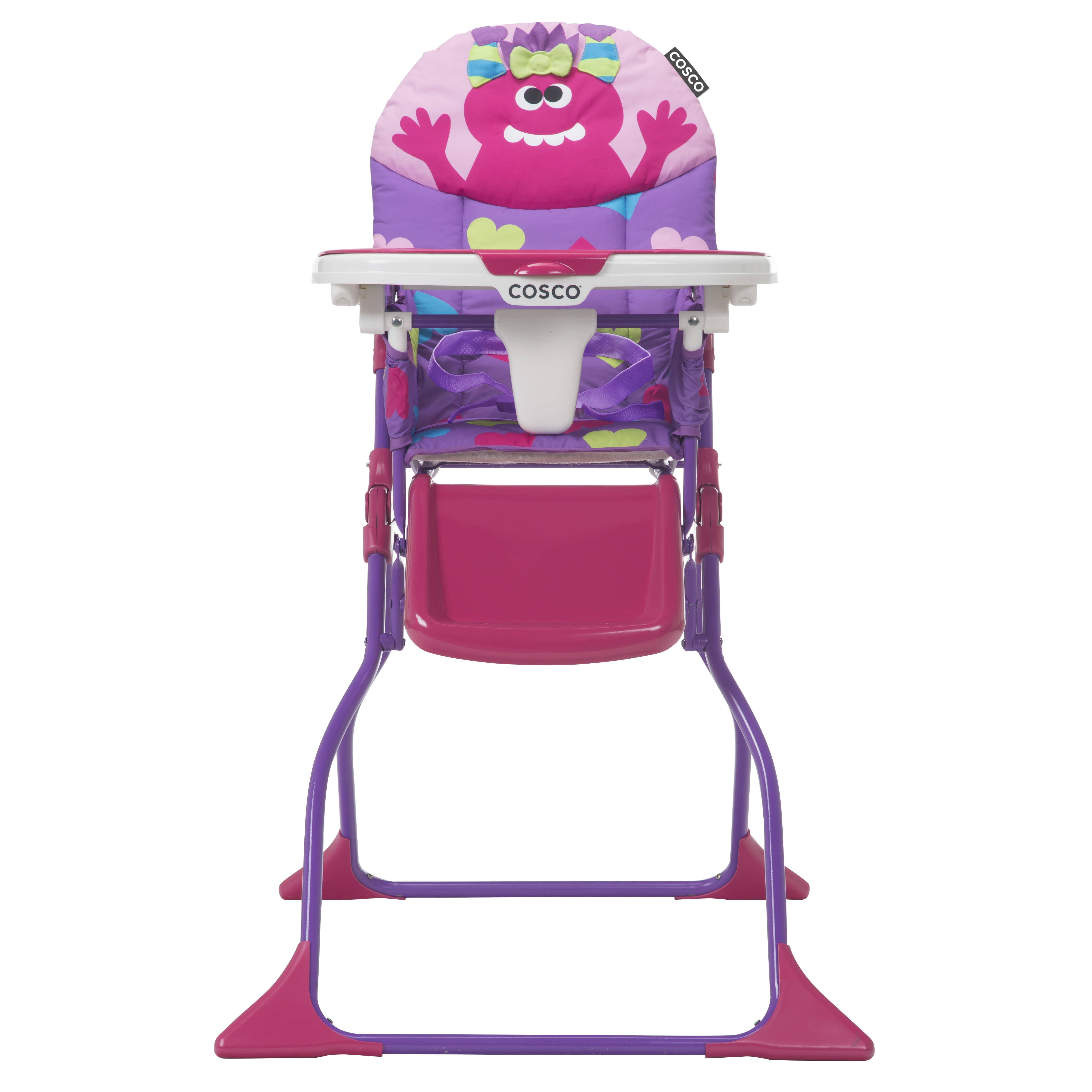 Cosco Simple Fold Deluxe High Chair, Monster Shelley
