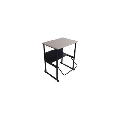 "Safco AlphaBetter 24"" x 36"" Adjustable Standing Student Desk in Beige"