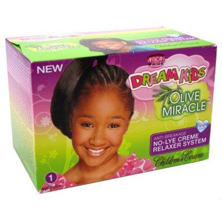 African Pride r?ve Enfants Olive Miracle Sans Soude Cr?me Relaxer 4 Touch Ups Kit gros - gros - image 1 de 1