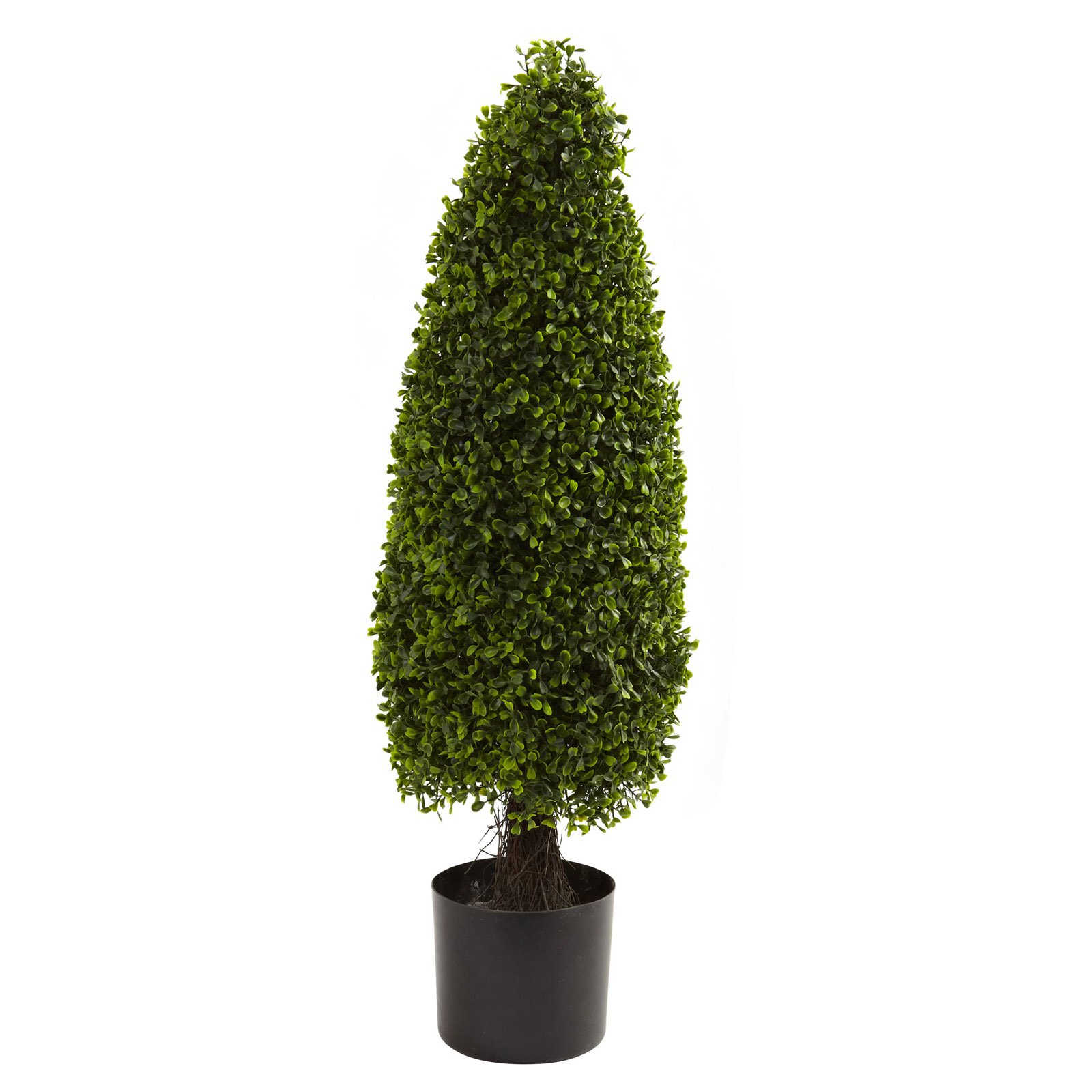 Nearly Natural 3' Boxwood Tower Topiary, UV Resistant, Indoor and Outdoor