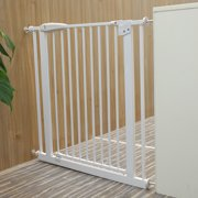 Adjustable Baby Safety Gate Door Fence Stair Through Walk for Kids Pets