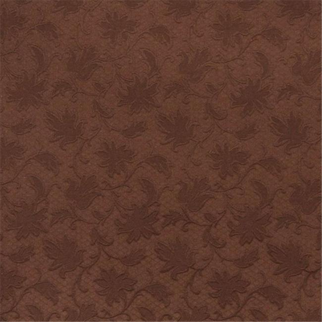 Designer Fabrics E502 54 in. Wide Brown, Floral Jacquard Woven Upholstery Grade Fabric