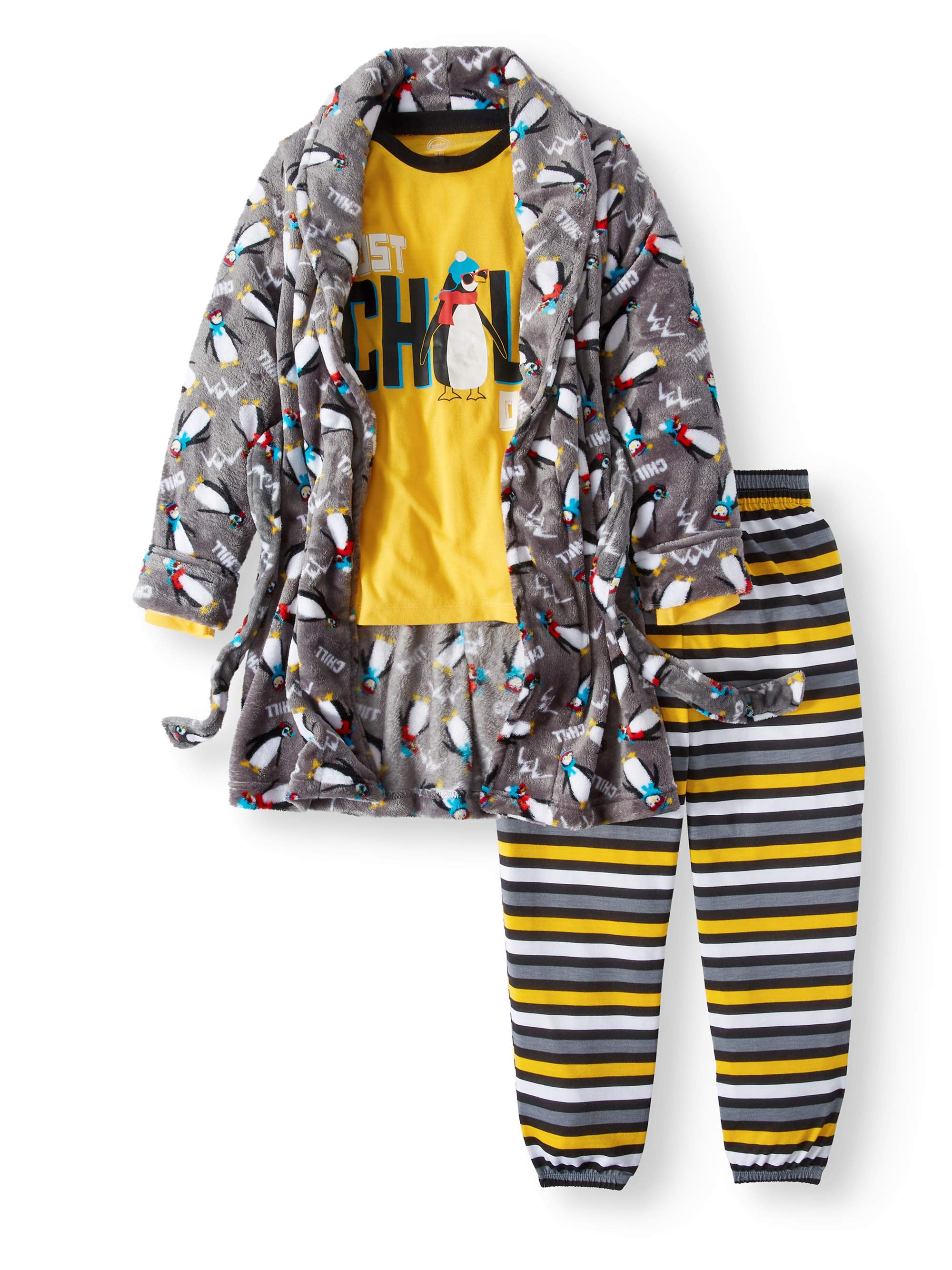 Chill Penguine 3 Piece Robe Set (Little Boy & Big Boy)