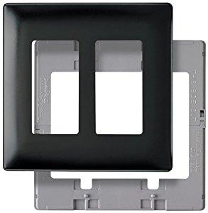 Pass & Seymour SWP262BKBPCC10 Black Screwless Plastic Wall Plate