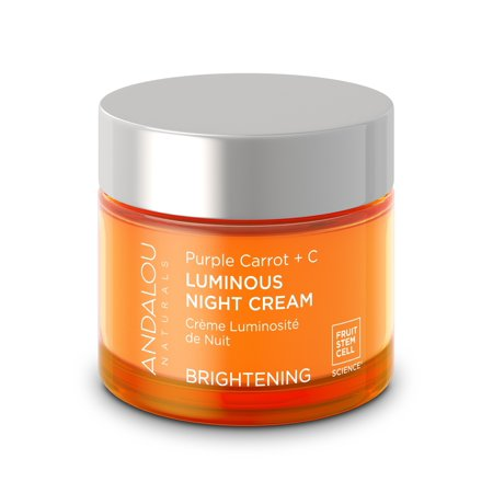 Andalou Naturals Luminous Night Cream Purple Carrot + C, 1.7