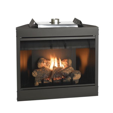 - Deluxe 34 Keystone Series MV Louvered B-Vent Fireplace - Natural Gas