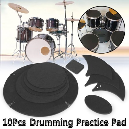 10Pcs/Set Bass Silencer Noise Reduction Pads Drums Muffler for Drumming