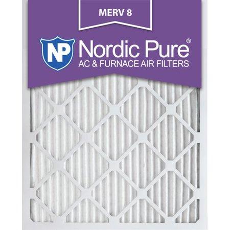 16x20x1 Pleated MERV 8 AC Furnace Air Filters Qty 6