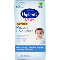 Hyland's Baby Mucus + Cold Relief, Natural Relief of Congestion, Runny Nose & Cough 4 Ounces