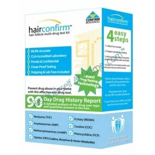 Hairconfirm Hcr101 Hair Follicle 7 Drug Test Kit