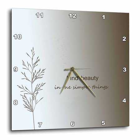 Beauty And The Beast Grandfather Clock (3dRose Zen Find Beauty in Simple Things cream nature art, Wall Clock, 15 by)