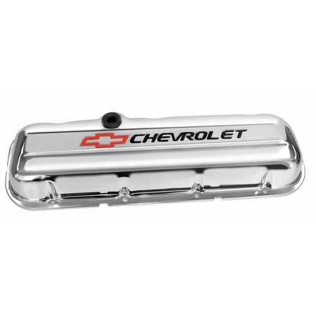 Tips Chevrolet Corvette (C3 Corvette 1968-1982 Proform Big Block Chrome Valve Cover - Short - Chevrolet & Bowtie Inlaid)