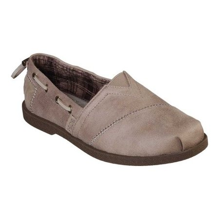 Skechers Brown Oxford - Women's Skechers BOBS Chill Luxe Buttoned Up Alpargata