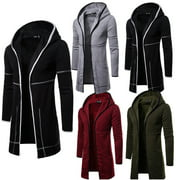 US Mens Winter Warm Long Wrap Cardigan Jumper Coat Jacket Casual Outwear Sweater