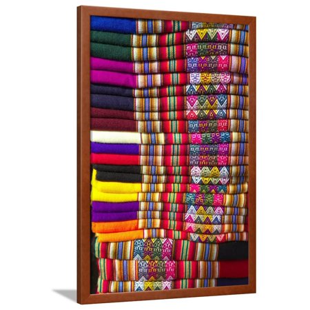 Colorful Peruvian Blankets Framed Print Wall Art By Dana Hoff ...