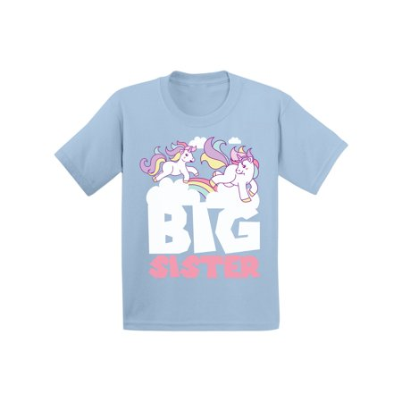 Awkward Styles Big Sister Outfit Unicorn Infant Shirt Unicorn B Day Gifts for Sister Sis Infant T-Shirt Girls Birthday Gifts Lovely Kids Clothes Collection I am Big Sister T-Shirt for Daughter](Blue Nose Friends Unicorn)