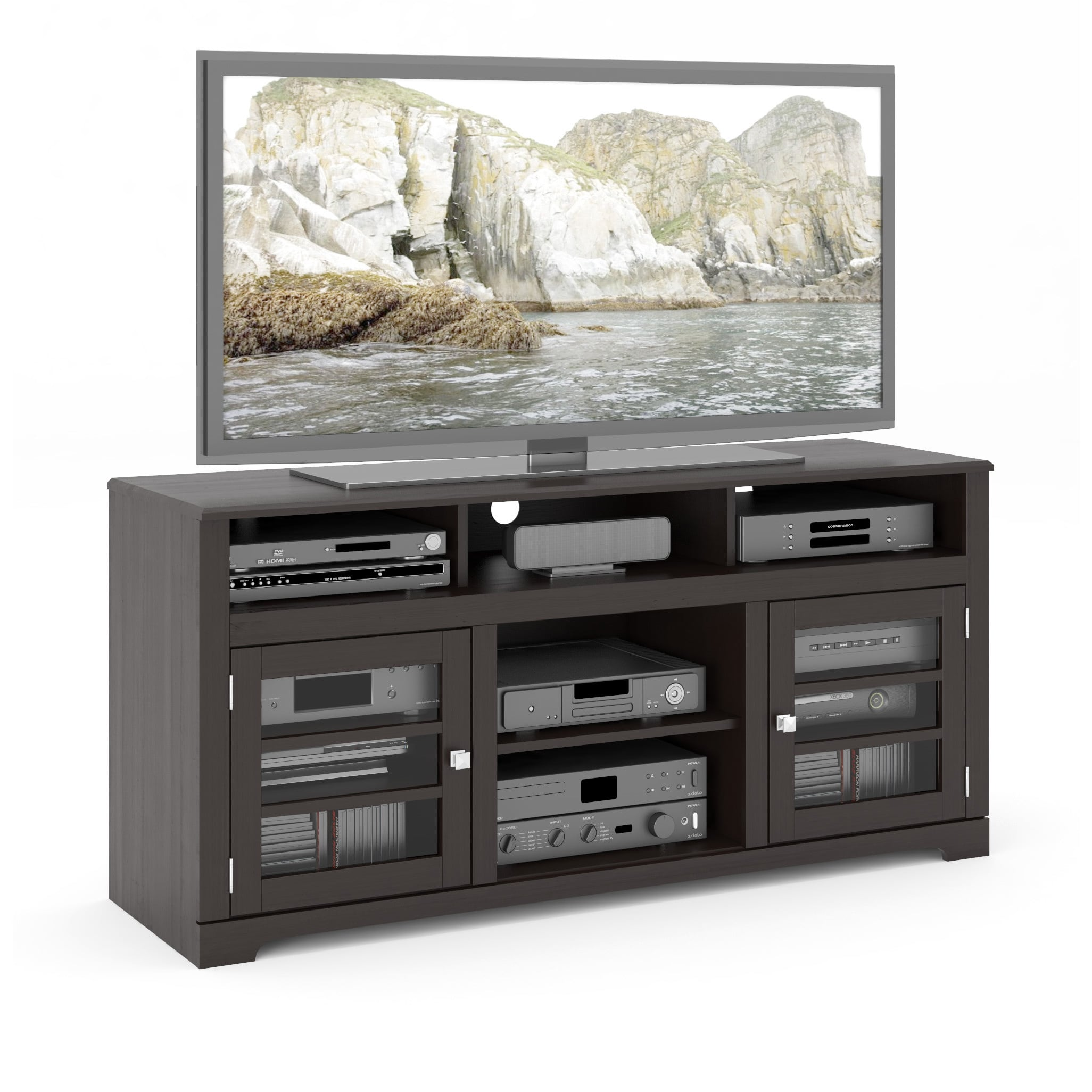 "West Lake 60"" Television Bench in Mocha Black"