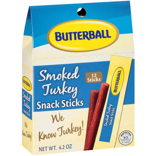Butterball Smoked Turkey Snack Sticks, 12 ct, 4.2 oz