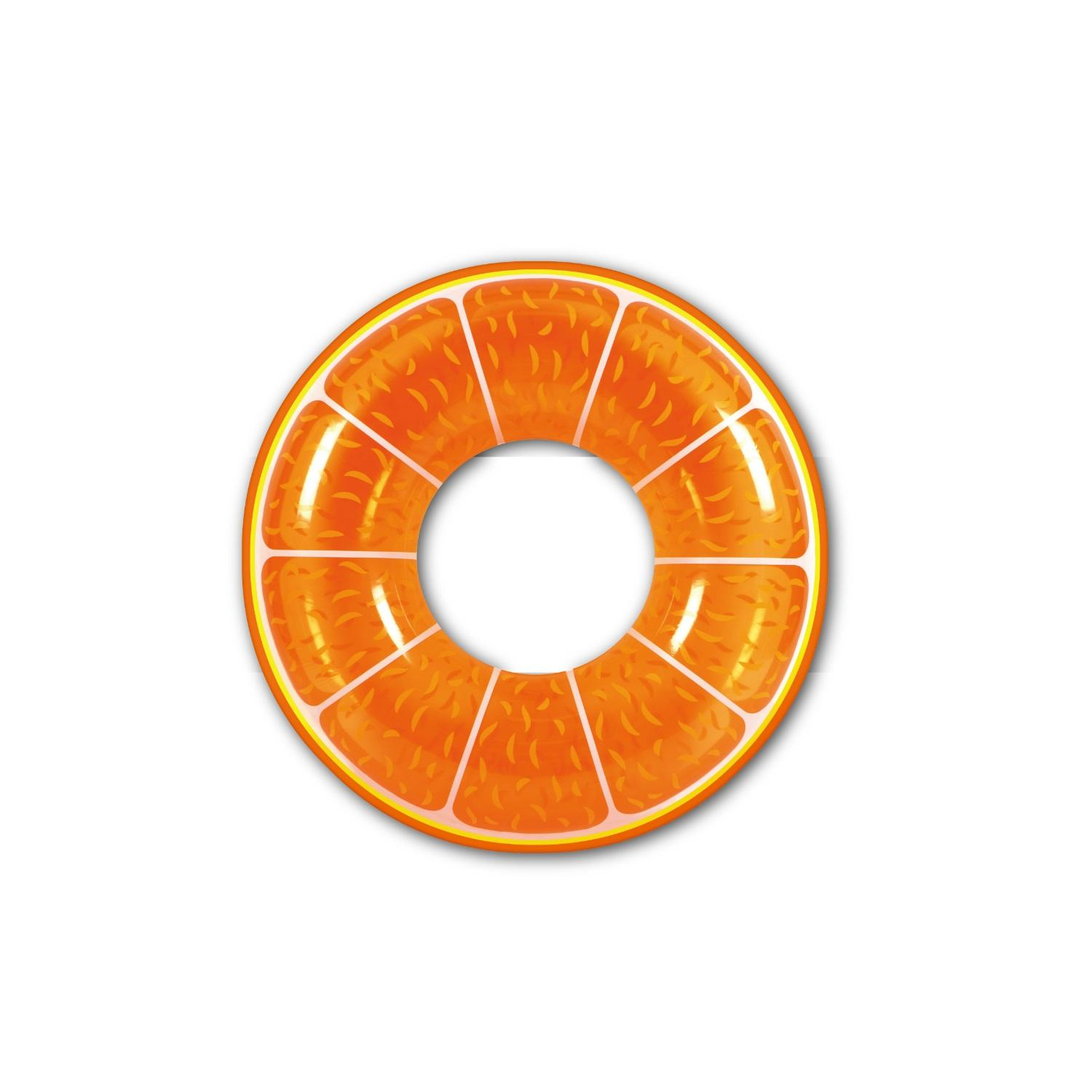 "42"" Orange Fruit Inflatable Swimming Pool Inner Tube Ring Float"