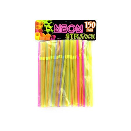 Bulk Buys HR012-75 Neon Party Bending Straws - image 1 of 1