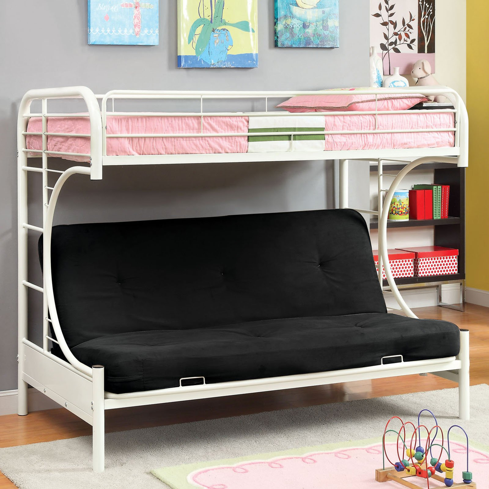 Ravens Contemporary Twin over Futon Bunk Bed Walmart