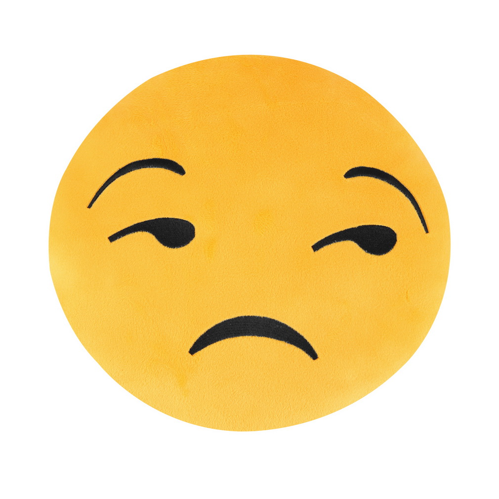 1pc sadness yellow Pretty Soft Emoticon Round Cushion Pillow Stuffed Plush Toy Doll Pillow~~^