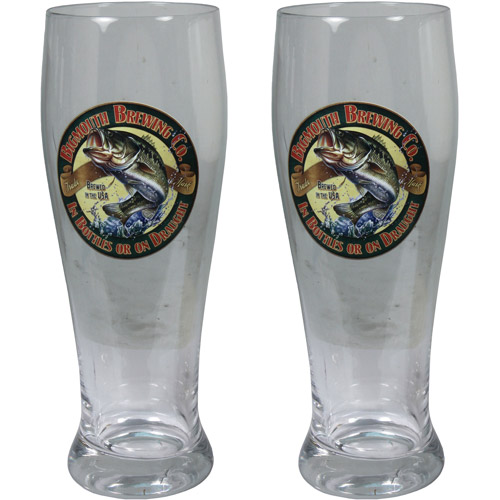 River's Edge Products 2-Pack 24 oz Bass Pilsner Glass