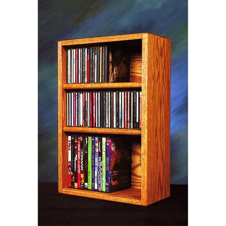 The Wood Shed Solid Oak Desktop / Shelf CD / DVD / VHS Tape Media (Solid Oak Cd Dvd)