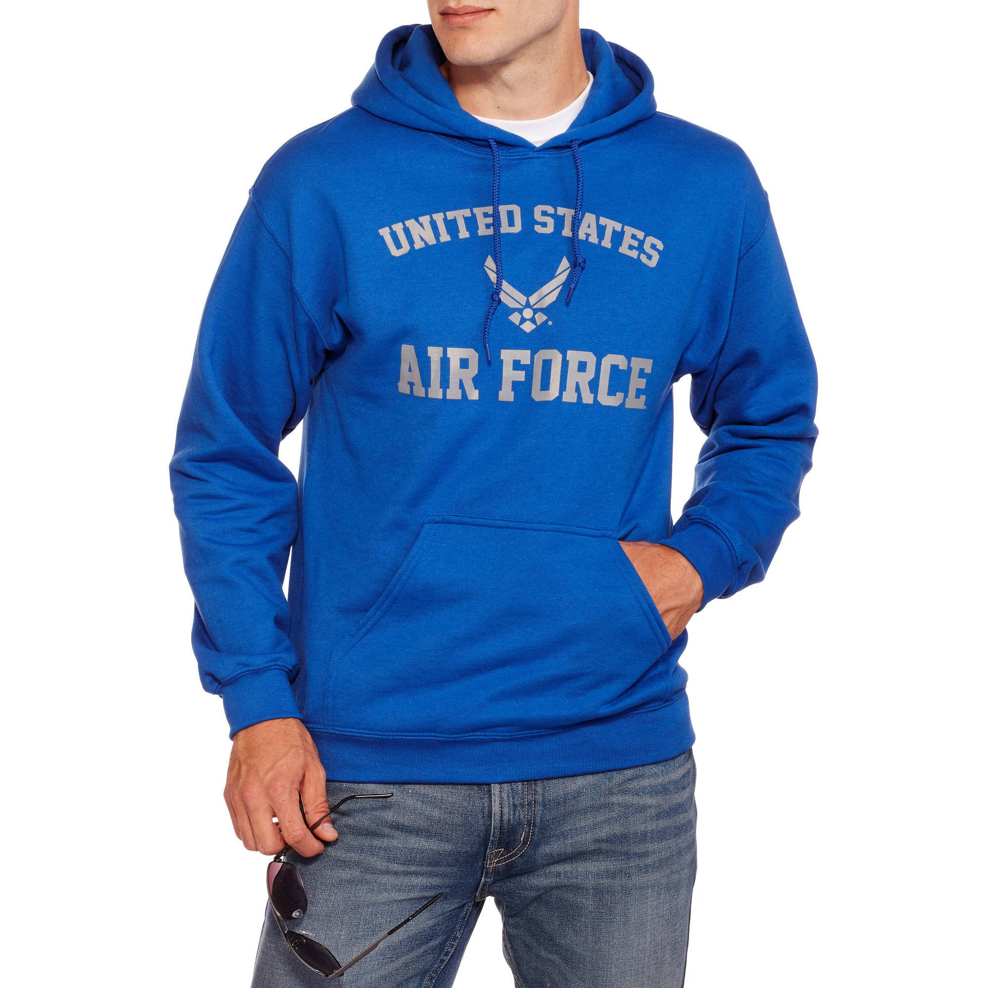 Military Officially Licensed Big Men's Air Force Fleece Hoodie, 2XL