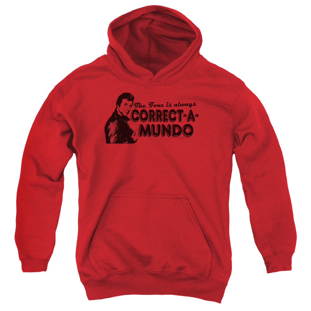 Happy Days Correct A Mundo Big Boys Pullover Hoodie