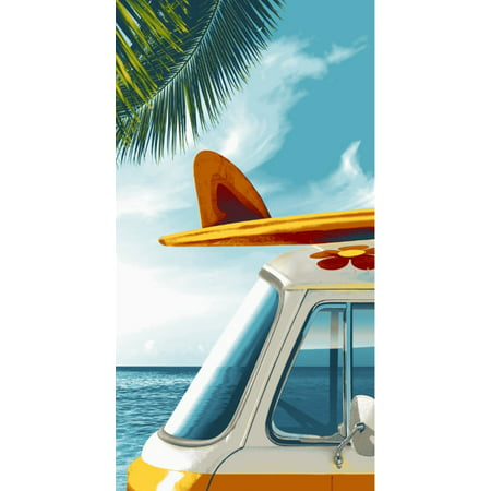 "Mainstays Gone Surfing Oversized 34"" x 64"" Beach Towel"