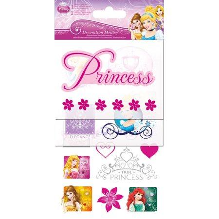 Sticker Decoration Medley - Disney Princess Games Toys Set Pack sc5062 (Disney Princess Stickers)