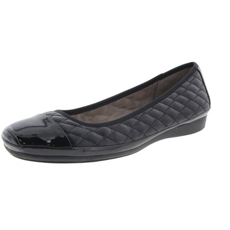 12140845e11f5 Naturalizer Womens Velma Faux Leather Toe Cap Ballet Flats