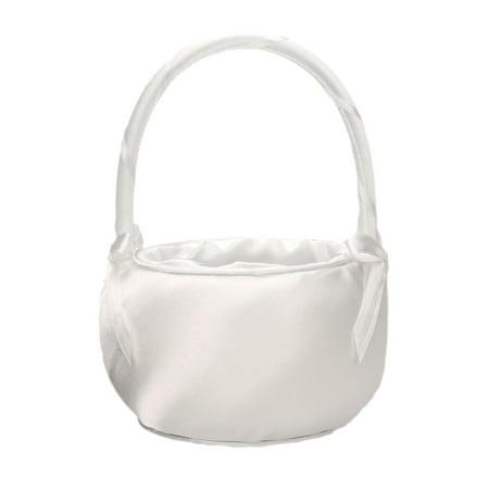 Lillian Rose Satin Flower Girl Basket, Off White ()