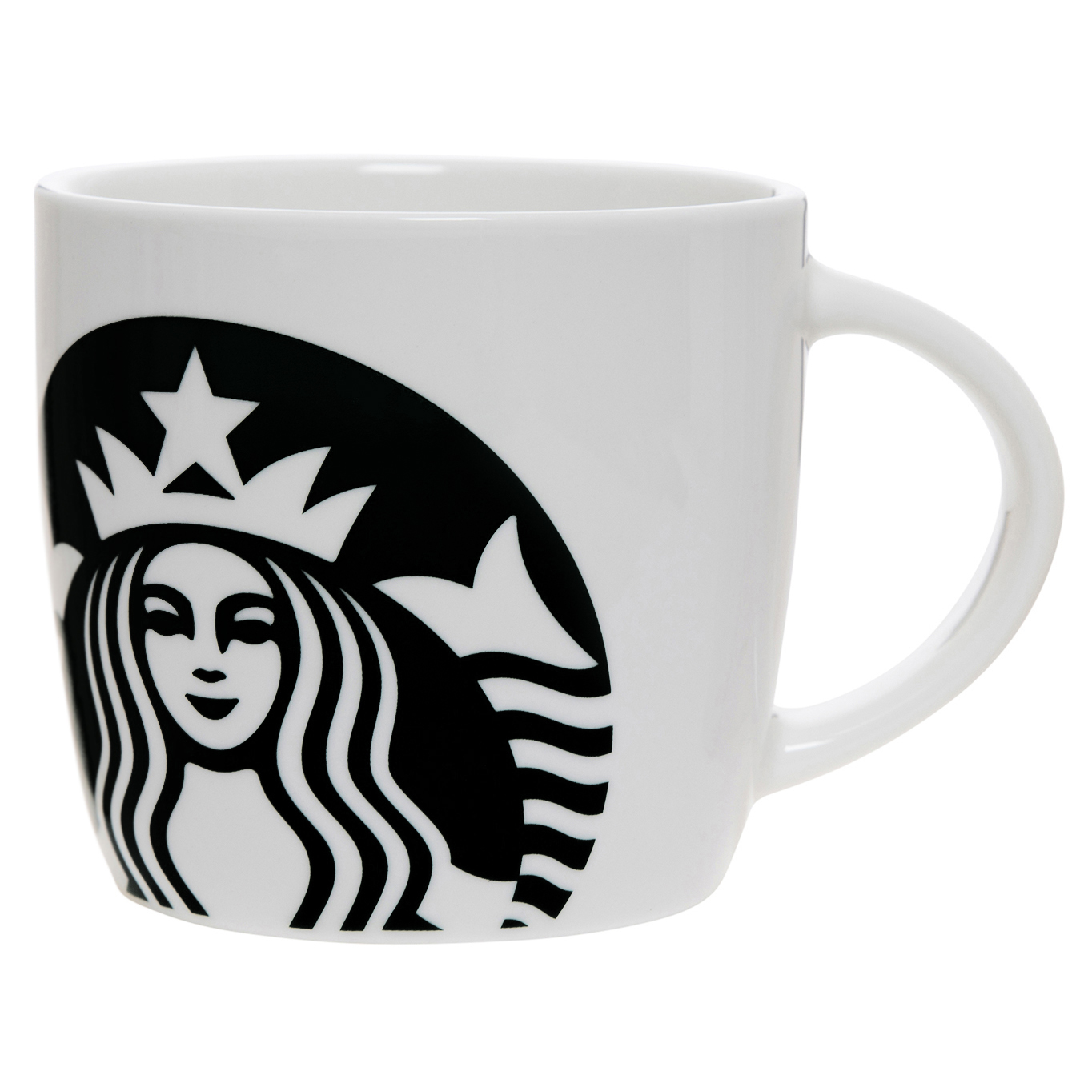 Starbucks 14oz Ceramic Mug White Swirl